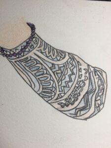 サモア系モチーフトライバルのタトゥー