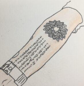 蓮とハーテェウのタトゥー